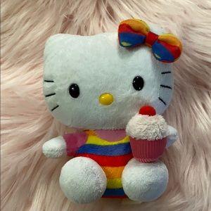 Hello Kitty 🎀 Rainbow 🌈 Cupcake Plush Doll Decor